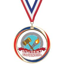 Antique Red White and Blue Student Council Medal
