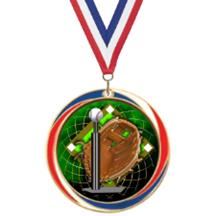 Antique Red White and Blue T-Ball Medal