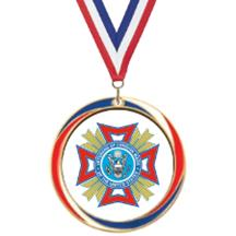 Antique Red White and Blue VFW Medal