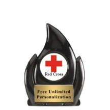 Black Flame Red Cross Insert Award