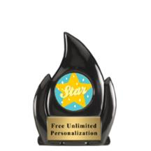 Black Flame Star Insert Award