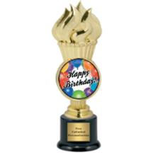 Torch Birthday Insert Trophy