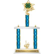 Two Tier Trophy - Ribbon Star 4H Club