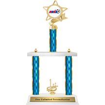 Two Tier Trophy - Ribbon Star AYSO
