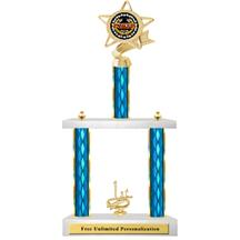 Two Tier Trophy - Ribbon Star Cards