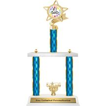 Two Tier Trophy - Ribbon Star Father's Day