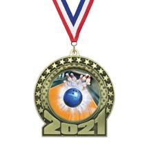 2019 Bowling Insert Medal