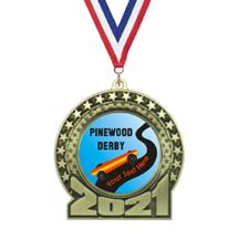 2019 Pinewood Derby Insert Medal