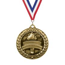 Star Wreath Reading Medal