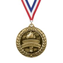 Large Star Wreath Reading Medal