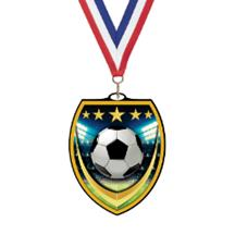 Vibraprint Soccer Shield Medal