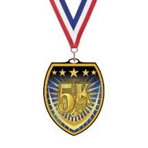 Vibraprint 5K Run Shield Medal