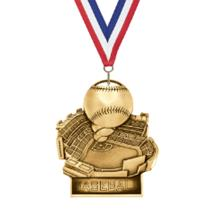 Stand Up Baseball Medal