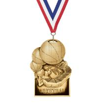 Stand Up Basketball Medal