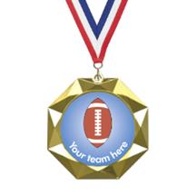 Octoblast Football Insert Medal