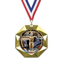 Octoblast Gymnastics Insert Medal
