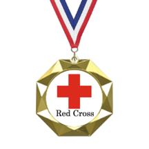 Octoblast Red Cross Insert Medal