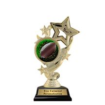 Star Ribbon Football Trophy