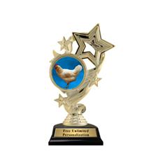 Star Ribbon Insert Chicken Trophy
