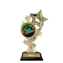Star Ribbon Insert Billiards Trophy