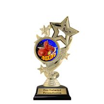 Star Ribbon Insert Boxing Trophy