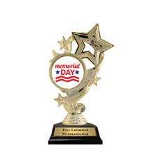 Star Ribbon Insert Memorial Day Trophy