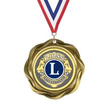 Fusion Lions Club Insert Medal