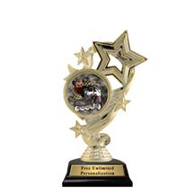 Star Ribbon Insert Inline Skating Trophy