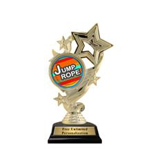 Star Ribbon Insert Jump Rope Trophy