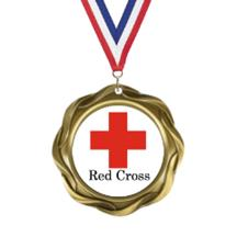 Fusion Red Cross Insert Medal