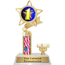 Flag Column Insert Trophy with Trim