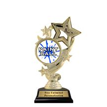 Star Ribbon Insert Paintball Trophy
