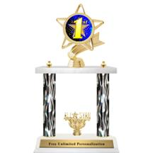Flame Double Column Insert Trophy