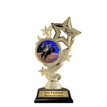 Star Ribbon Insert Rodeo Trophy