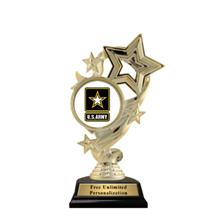Star Ribbon Insert Army Trophy