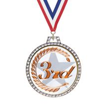 Diamond 3rd Place Insert Medal
