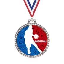 Holographic Diamond Basketball Medal