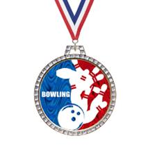 Holographic Diamond Bowling Medal
