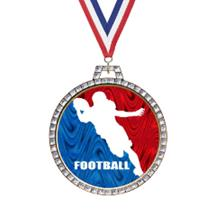 Holographic Diamond Football Medal