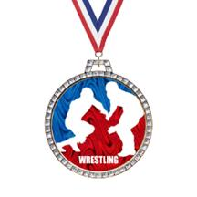 Holographic Diamond Wrestling Medal