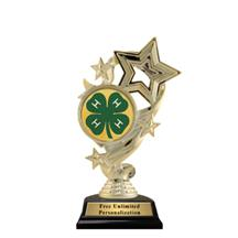 Star Ribbon Insert 4H Club Trophy