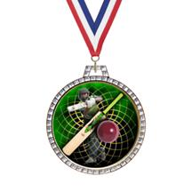Diamond Cricket Insert Medal