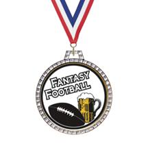 Diamond Fantasy Football Insert Medal
