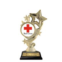Star Ribbon Insert Red Cross Trophy