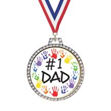 Diamond Father's Day Insert Medal