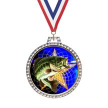 Diamond Fishing Insert Medal