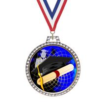 Diamond Graduation Insert Medal