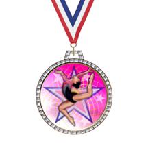 Diamond Gymnastics Insert Medal