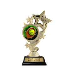 Star Ribbon Softball Trophy