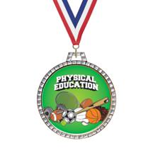 Diamond Physical Education Insert Medal